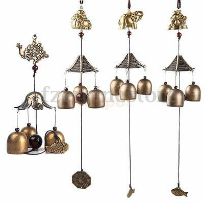 Retro Chinese Bells Lucky Feng Shui Hanging Wind Chime Yard Garden Outdoor Decor