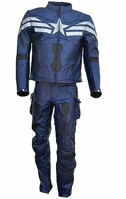 Celebrita Italy American Captain bike Leather Jacket & Pant Suit with CE Armor