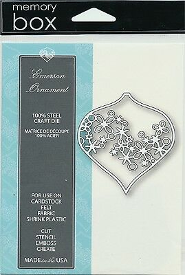 "Memory Box Die Emerson Ornament 2.5x2.8"" Stanzschablone Glaskugel 6,4x7,1 cm"
