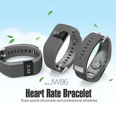 Bluetooth Smart Heart Rate Monitor Pedometer Bracelet JW86 for Android IOS Gifts
