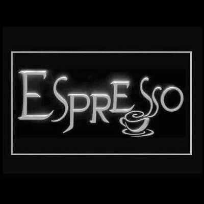 110270 Espresso Coffee Roasted Extra Shot Steamer Perfect Cafe LED Light Sign