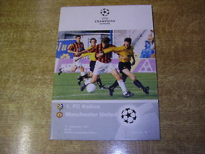 1997/98 CHAMPIONS LEAGUE - 1.FC KOSICE v MANCHESTER UNITED