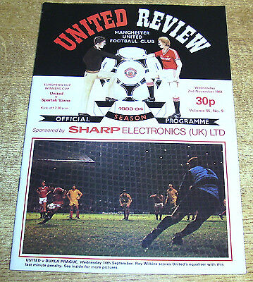 1983/84 CUP WINNERS CUP - MANCHESTER UNITED v SPARTAK VARNA