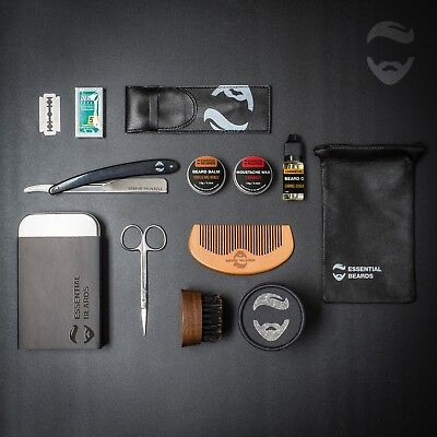 Essential XXL Grooming Kit Beard Balm, Wax, Oil, Comb and Tin, CHOOSE YOUR SCENT