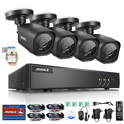ANNKE HD-TVI 720P Surveillance Kit 8CH 1080N DVR usb Backup Security Camera Home