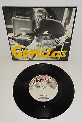 """The Gorillas She's My Gal Chiswick Ns4 A1/b1 7"""" + P/s --- Unplayed Vinyl"""