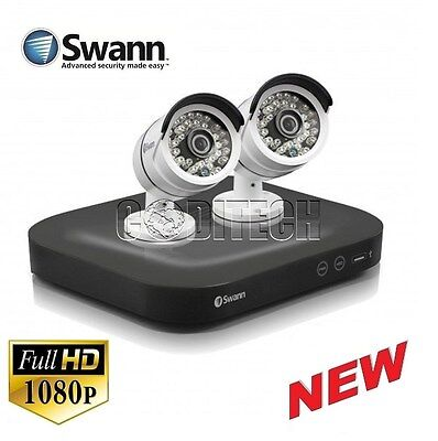 Swann DVR4-4750 - 4 Channel 1080p AHD/TVI CCTV Kit with 2x 3.0MP PRO-T858 Cams*