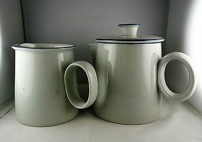 2 Pcs Dansk Blue Mist - Coffee Pot w/ Lid & Pitcher - Nils Refsgaard