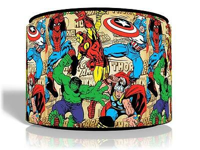 "Marvel Heroes Comics Kids  Ceiling Light Lamp Light Shade 11""  Free  P & P"