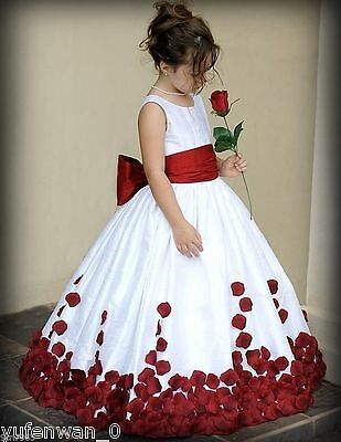 New Communion Bridesmaid Pageant Birthday Wedding Party Flower Girl Dress