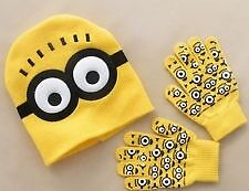 Minion Hat and Gloves. Brand new. Uk seller. Age 2-8