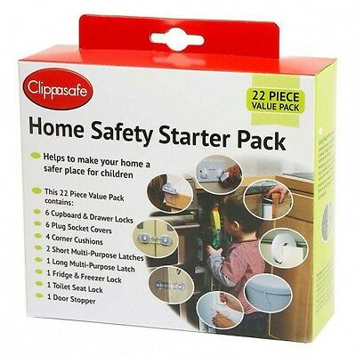Clippasafe Toddler Home Safety Starter Pack UK 22 Pieces Baby Child Proofing