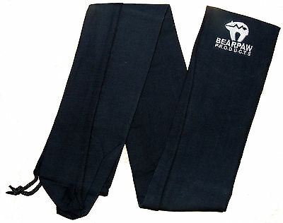 "New Bearpaw Archery Longbow Black Fleece Cover Cases Draw String Bows 78"" 196cm"