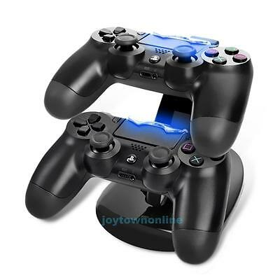 Dual USB Charging Dock Stand Charger Holder for Sony Playstation4 PS4 Controller
