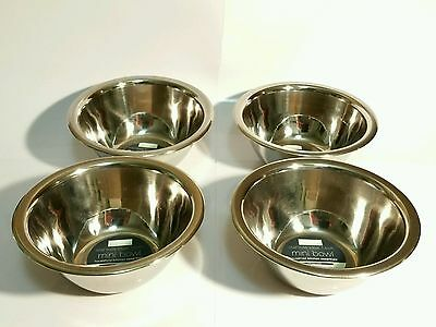 Stainless steel 4 mini bowls (14cm)
