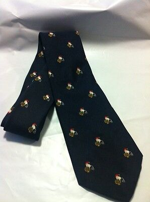 Vintage Brooks Brothers Makers Christmas Tie W/ Mouse In Santa Hat