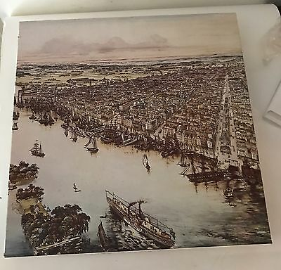 "Vintage NEW, FACTORY SEALED Jigsaw Puzzle ""Bird's Eye View of Philadelphia"" 1975"
