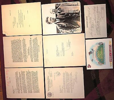 1927 LOT~LINDBERGH BACKERS MAYOR VICTOR MILLER SIGNED TO & NOTATED by H.M. BIXBY