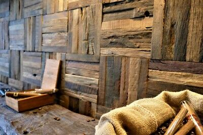 Wall Tiles, Decorative Wall Paneling, Wood Mosaic, Reclaimed Wood, Cafe, Pub