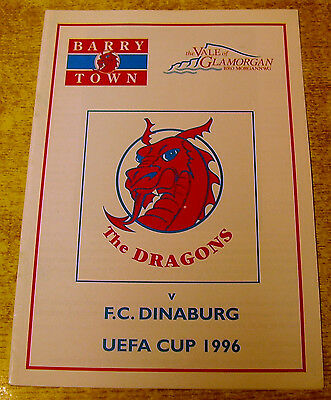 1996/97 UEFA CUP PRELIMINARY ROUND - BARRY TOWN v FC DINABURG