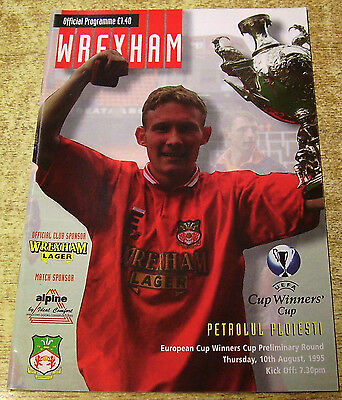 1995/96 CUP WINNERS CUP PRELIMINARY ROUND - WREXHAM v PETROLUL PLOIESTI