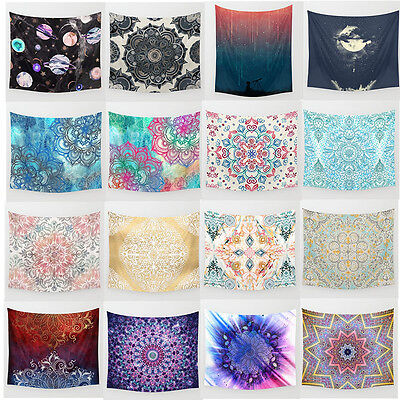 Colorful Pattern Wall Hanging Mandala Throw Hippie Bedspread Gypsy Twin Blanket