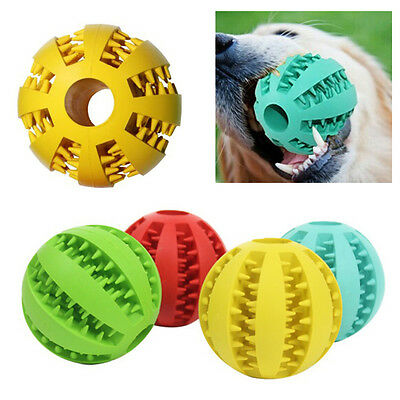 Pet Rubber Dental Treat Oral Teeth Cleaning Ball Chew Toy For Dog Health Care