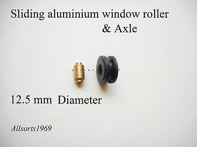 Sliding Aluminium window roller wheel with axle Doric DR11 ( one )
