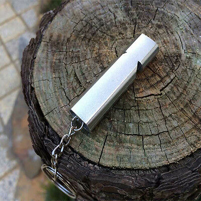 Outdoor Survival Alloy Emergency EDC Keychain Pendant Whistle First Aid Tool 1pc