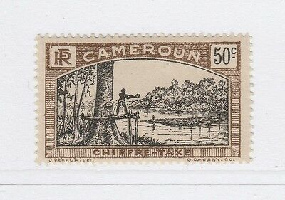 A2P55 FRENCH CAMEROUN POSTAGE DUE STAMP 1925-27 50c MH*