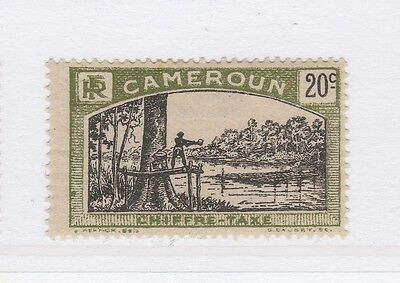 A2P55 FRENCH CAMEROUN POSTAGE DUE STAMP 1925-27 20c MH*