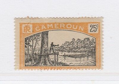 A2P55 FRENCH CAMEROUN POSTAGE DUE STAMP 1925-27 25c MH*