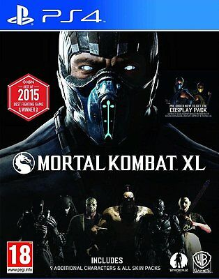 Mortal Kombat XL Videogame For Sony PS4 Console Brand New Sealed