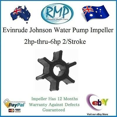 A Brand New Impeller Suits Evinrude Johnson 2hp-thru-6hp # R 387361 or # 773735