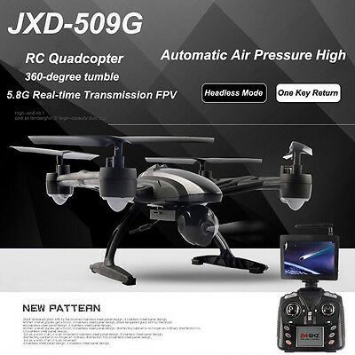FPV 2.4Ghz 4CH JXD 509G RC 6-Axis Quadcopter Drone with 2MP HD Camera UFO UAV