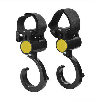 NEWCARE 360° Rotable Velcro Pushchair Stroller ABS Hooks Hanger Clips for Baby