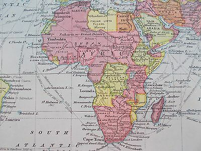 Map of Africa.  c1920. Bacon Atlas. SOUTH AFRICA. EGYPT