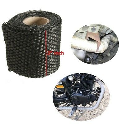 Header Exhaust Turbo Intake Manifold Down Pipe Black High Heat Wrap Tape 1M 2''