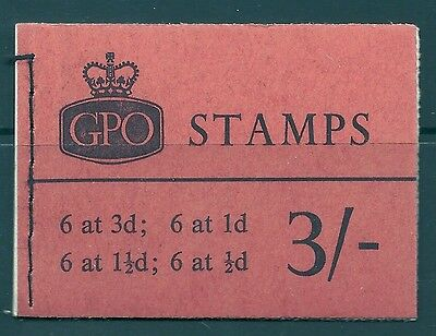 M37p 3/- GPO booklet - 3d pane missing phosphor UNMOUNTED MINT/MNH