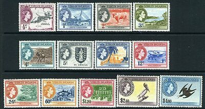 BRITISH VIRGIN ISLANDS-1956 Set to $4.80 Sg 149-161 LIGHTLY MOUNTED MINT V12668