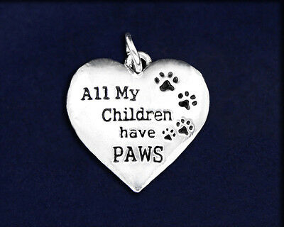 Lot of 25 All My Children Have Paws Charms