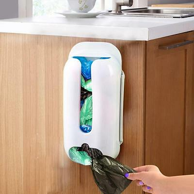 Wall Mounted Plastic Carrier Bag Storage Container Holder Organizer Recycle Box