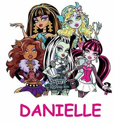 ******monster High*** Personalized****fabric/t-Shirt Iron On Transfer