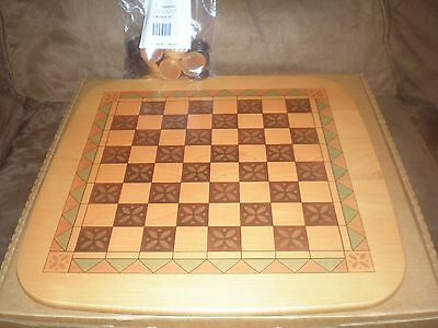 Longaberger 2001 Father's Day  Checkerboard Basket WoodCrafts Lid & Checkers