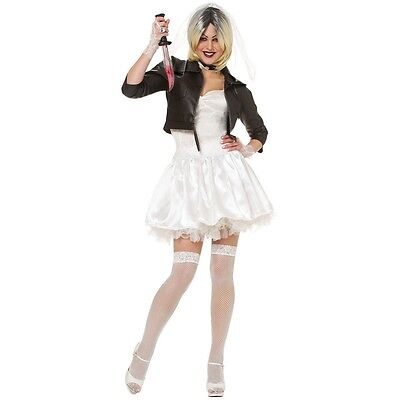Bride of Chucky Costume Adult Scary Halloween Fancy Dress