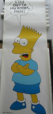 Bart Simpson The Simpsons Extra Large Door Poster 1990