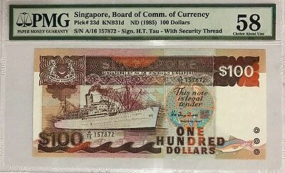 Singapore Board of Comm. of Currency - $100 ND (1985) PMG 58