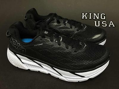 Women's Hoka One One Clifton 3 Running Athletic Shoes Black Anthracite