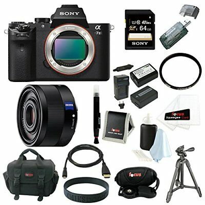Sony Alpha a7II Digital Camera Body and 35mm F2.8 ZA Lens with 64GB Acc Bundle