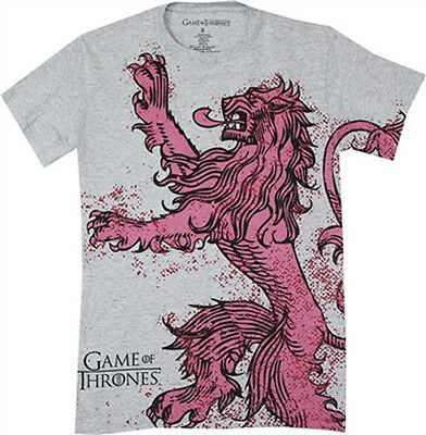 Game of Thrones Lannister T-Shirt Gray Licensed NEW